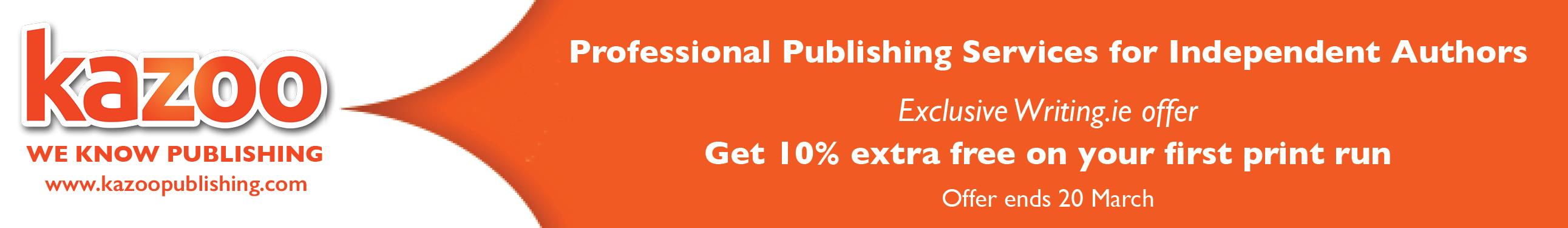 Kazoo Independent Publishing Services Special Offer