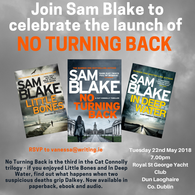 No Turning Back by Sam Blake Launch