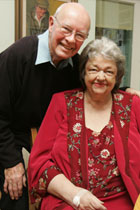 Maeve Binchy with her husband Gordon Snell.