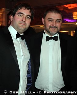 New Island Editorial Director Eoin Purcell (left) & winner Billy O'Callaghan