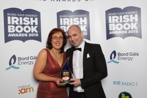 Pictured at the 10th annual Bord Gáis Energy Irish Book Awards is Donal Ryan, winner of the Writing.ie Short Story of the Year award for his books Slanting at the Sun with Vanessa O'Loughlin. Pic: Patrick Bolger