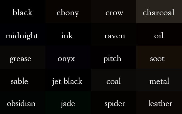 Creating a Color Thesaurus by Ingrid Sundberg | Writing.ie