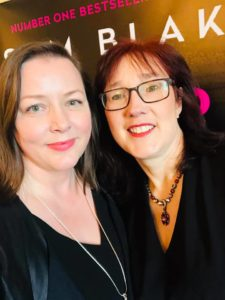 Maira McHale and bestselling author Sam Blake