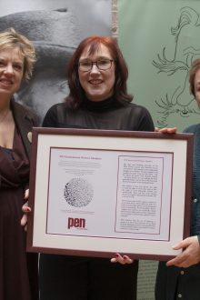 Senator Ivana Bacik, Vanessa Fox O'Loughlin and Anne Enright (l-r) launch the PEN International Women's Manifesto in Ireland for Irish Pen